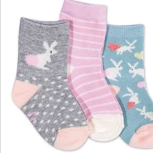 ED by Ellen 3-pack crew socks bunnies and patterns